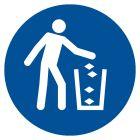 GJM030 - Nakaz używania kosza na śmieci - znak bhp nakazujący