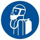 GJM047 - Nakaz używania aparatu oddechowego - znak bhp nakazujący