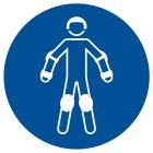 GJM049 - Nakaz używania ochraniaczy sportowych - znak bhp nakazujący