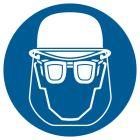 GK003 - Nakaz stosowania ochrony głowy i twarzy - znak bhp nakazujący