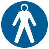 GK005 - Nakaz stosowania kombinezonu ochronnego - znak bhp nakazujący - Stocznia – bezpieczeństwo i higiena pracy