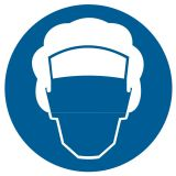 GK009 - Nakaz stosowania czepka ochronnego - znak bhp nakazujący - Ryzyko zawodowe a przepisy BHP