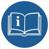 GK013 - Przeczytaj instrukcję - znak bhp nakazujący, informujący - Lokal gastronomiczny – o jakich znakach należy pamiętać?