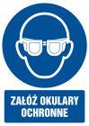 GL003 - Załóż okulary ochronne - znak bhp nakazujący