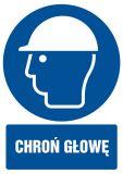 GL004 - Chroń głowę - znak bhp nakazujący - Ryzyko zawodowe a przepisy BHP