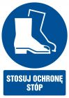 GL007 - Stosuj ochronę stóp - znak bhp nakazujący