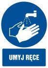 GL012 - Umyj ręce - znak bhp nakazujący, informujący