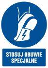 GL017 - Stosuj obuwie specjalne - znak bhp nakazujący, informujący