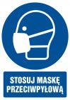 GL018 - Stosuj maskę przeciwpyłową - znak bhp nakazujący, informujący