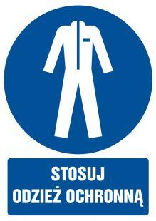 GL020 - Stosuj odzież ochronną - znak bhp nakazujący, informujący