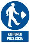 GL023 - Kierunek przejścia - znak bhp nakazujący, informujący