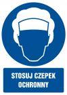 GL025 - Stosuj czepek ochronny - znak bhp nakazujący, informujący