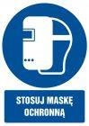 GL027 - Stosuj maskę ochronną - znak bhp nakazujący, informujący