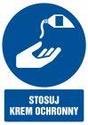 GL054 - Stosuj krem ochronny - znak bhp nakazujący, informujący