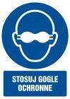 GL059 - Stosuj gogle ochronne - znak bhp nakazujący, informujący