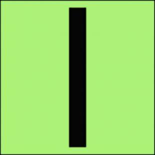 Główna strefa pionowa - znak morski - FI003