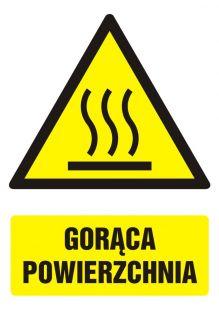 Gorąca powierzchnia - znak bhp ostrzegający, informujący - GF033