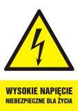 HA004 - Wysokie napięcie niebezpieczne dla życia - znak sieci elektrycznych - Budynki mieszkalne – oznakowanie