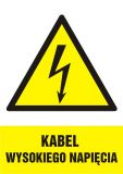 HA005 - Kabel wysokiego napięcia - znak sieci elektrycznych - Norma PN-E-08501:1998
