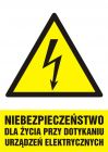 HA006 - Niebezpieczeństwo dla życia przy dotykaniu urządzeń elektrycznych - znak sieci elektrycznych