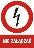 HC003 - Nie załączać - znak sieci elektrycznych - Norma PN-E-08501:1998
