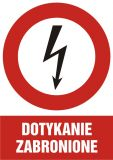 HC008 - Dotykanie zabronione - znak sieci elektrycznych - Protokół powypadkowy