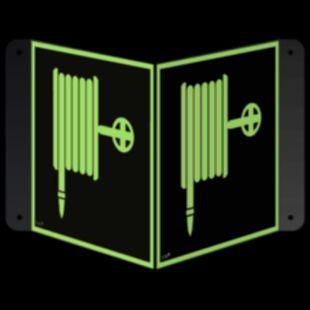 Hydrant wewnętrzny - znak ewakuacyjny, przestrzenny, ścienny 3D