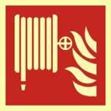 Hydrant wewnętrzny - znak przeciwpożarowy ppoż - BAF002 - Oznaczenie hydrantu – znaki hydrantu zewnętrznego i wewnętrznego