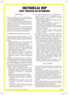 IAA10 - Instrukcja BHP przy pracach na wysokości