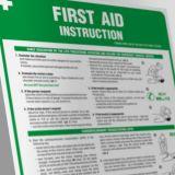 IAA11_AN - Angielska instrukcja udzielania pierwszej pomocy- First aid instruction - Instrukcje BHP dla obcokrajowców