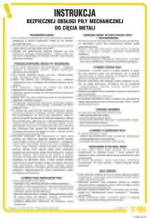 IAB06 - Instrukcja bezpiecznej obsługi piły mechanicznej do cięcia metali