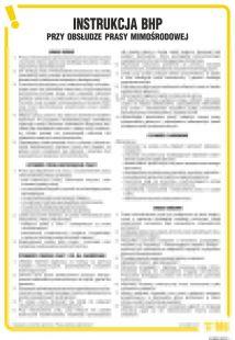 IAB08 - Instrukcja BHP przy obsłudze prasy mimośrodowej