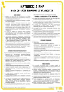 IAB10 - Instrukcja BHP przy obsłudze szlifierki do płaszczyzn