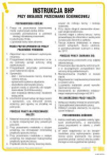 IAB12 - Instrukcja BHP przy obsłudze przecinarki ściernicowej