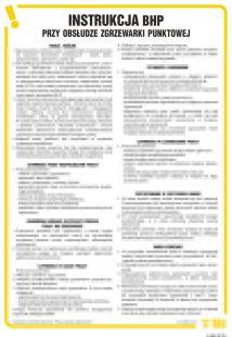 IAB22 - Instrukcja BHP przy obsłudze zgrzewarki punktowej