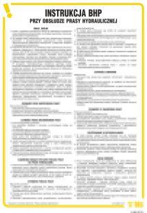 IAB25 - Instrukcja BHP przy obsłudze prasy hydraulicznej