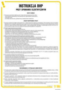 IAC04 - Instrukcja BHP przy spawaniu elektrycznym