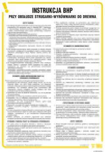 IAF05 - Instrukcja BHP przy obsłudze strugarki-wyrówniarki do drewna