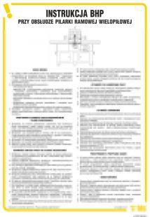 IAF07 - Instrukcja BHP przy obsłudze pilarki ramowej wielopiłowej