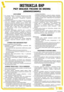 IAF13 - Instrukcja BHP przy obsłudze frezarki do drewna (górnowrzecionowej)
