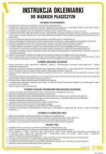 IAF17 - Instrukcja okleiniarki do wąskich płaszczyzn