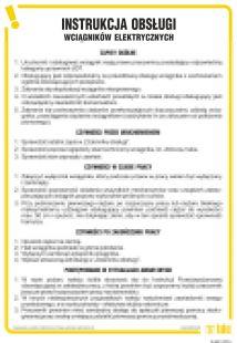 IAG01 - Instrukcja obsługi wciągników elektrycznych