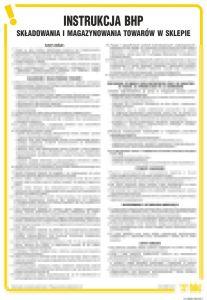 IAH02 - Instrukcja składowania i magazynowania towarów w sklepie - Magazynowanie materiałów i innych przedmiotów