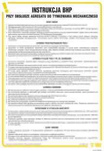IAJ01 - Instrukcja BHP przy obsłudze agregatu do tynkowania mechanicznego