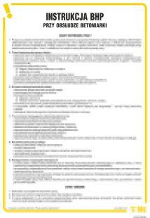 IAJ07 - Instrukcja BHP przy obsłudze betoniarki