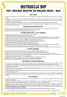 IAO25 - Instrukcja BHP przy obsłudze maszyny do mielenia mięsa - Wilk