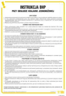 IAP02 - Instrukcja BHP przy obsłudze krajarki jednonożowej