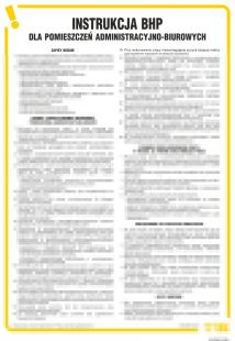 IAR04 - Instrukcja BHP dla pomieszczeń administracyjno-biurowych