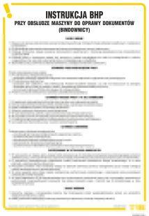 IAR05 - Instrukcja BHP przy obsłudze maszyny do oprawy dokumentów bindownicy