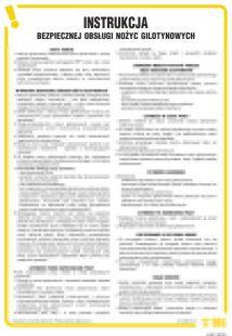 Instrukcja bezpiecznej obsługi nożyc gilotynowych - IAB11